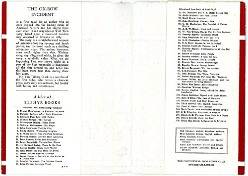 The Ox-Bow Incident, Zephyr #81 with DJ, 1946
