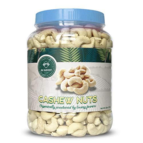 Yogurt Covered Cashews - DK Harvest Extra Large Whole Cashews Raw, 32 Oz./ 2lb Gourmet Jar