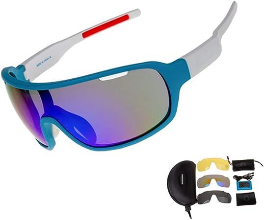 VIWIV Gafas De Equitación Polarizadas, Adecuadas para Ciclismo Gafas De Equitación Guía De Pesca, Gafas De Sol Deportivas Al Aire Libre UV400 Accesorios 3 Lentes,Blanco: Amazon.es: Hogar