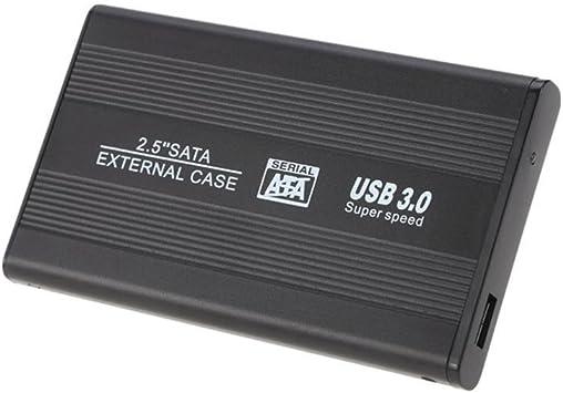 Funda de piel para disco duro externo SATA con USB 3.0 de 6,35 cm ...