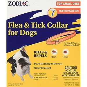Zodiac Flea and Tick Collar for Small Dogs, 15″