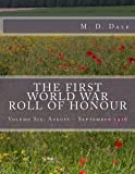 The First World War Roll of Honour, M. Dale, 1499590172