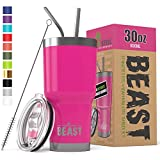 Best Tumblers With Straw Cups - BEAST 30 oz Tumbler Stainless Steel Insulated Coffee Review
