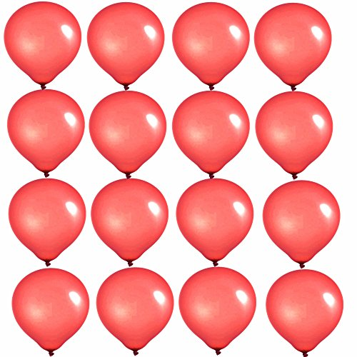 Elecrainbow 10 Inch Red Balloons, Round Matte Balloons for Party Decoration, Birthday, Wedding, Holiday, Balloon Arch Modeling, Pack of 100