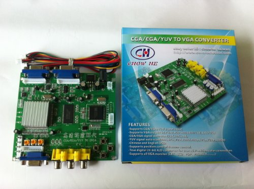 Yuv Component - Arcade Game RGB/CGA/EGA/YUV to VGA HD Arcade Game Video Converter Board 2 VGA Output for Arcade Jamma Game Monitor to LCD CRT Monitor PDP Monitor (GBS-6220, 2Vga)