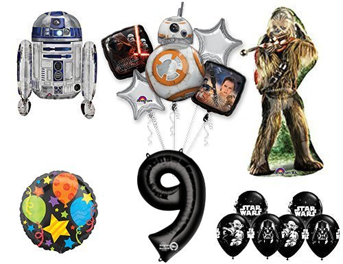 The Ultimate Star Wars 9th Birthday Party Supplies and Balloon ()