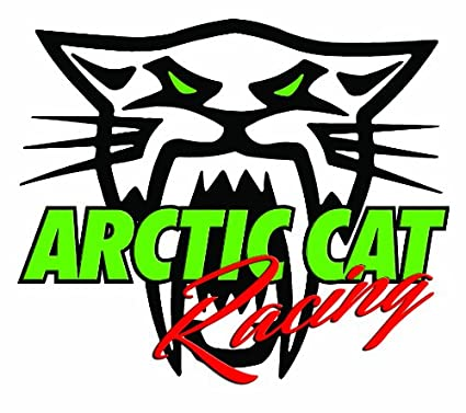 "Arctic Cat BITE Logo 12/"" Vinyl Snowmobile Trailer Vehicle Decal RED"