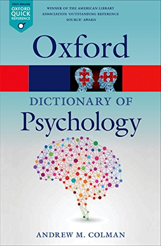 A Dictionary of Psychology (Oxford Quick Reference) cover