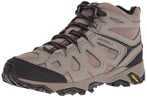 Merrell Men's Moab FST LTR Mid Waterproof Hiking Boot, Boulder, 10 M US