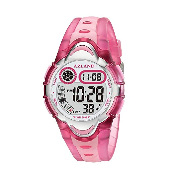 Kerrian Online Fashions 51zRrLr8muL AZLAND Waterproof Swimming Frozen Sports Watch Boys Girls Led Digital Watches for Kids, Updated Version Three Alarms,Green …