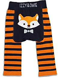 Izzie and Owie Baby Leggings (12-24 Months, Orange and Navy: Fox)