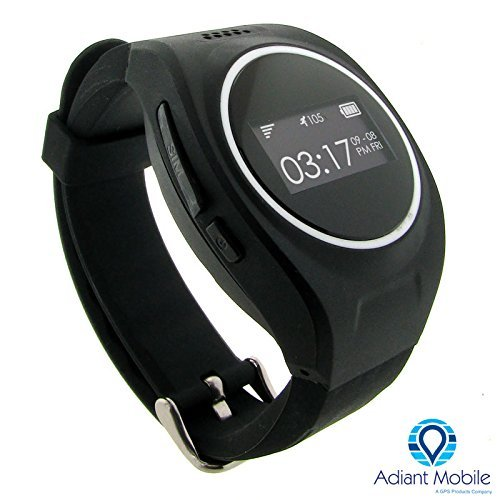 MX-LOCareNT GPS Personal Safety Watch for Children and Adults, Two way Communication, Voice to Text to Voice, SOS Alert, Black