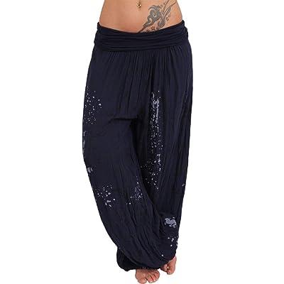 2019 Pantalones Cortos Mujer Verano Tallas Grandes Damas Ancho De Banda Impresa Sueltos Pierna es De Las es: Ropa y accesorios