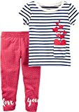 Carter's Girls' 2T-8 2 Piece French Terry Top and