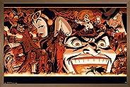 """Trends International DC Comics - Batman - Villains Collage Wall Poster, 22.375"""" x 34"""", Bronze Fram"""