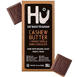 Hu Chocolate Bars | 8 Pack Orange Dream Vanilla Cashew Butter Chocolate | Natural Organic Vegan, Gluten Free, Paleo, Non GMO, Fair Trade Dark Chocolate | 2.1oz Each