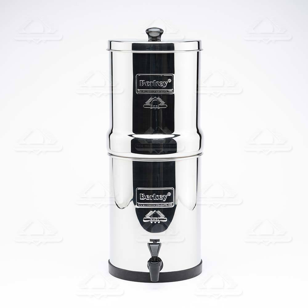 Travel Berkey Water Filter System 1.5 Gallon with 2 Black Berkey Purifiers and 2 Fluoride Filters and Scrub Pad