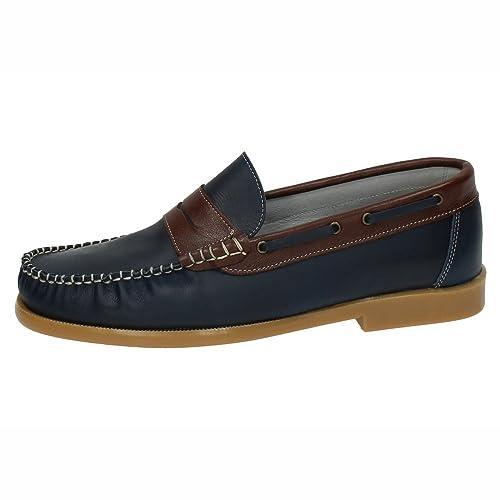 MADE IN SPAIN 151 Mocasines DE Piel Hombre Zapatos MOCASÍN Marino 40