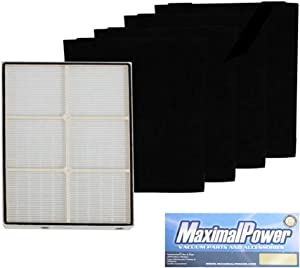 MaximalPower VF WP 1183054K Set HEPA Whirlpool Whispure Air Purifier, Whirpool Filter + 4 Pre-Carbon Black Filters
