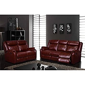 Amazon.com: Global Furniture USA 2 Piece Leather Reclining ...