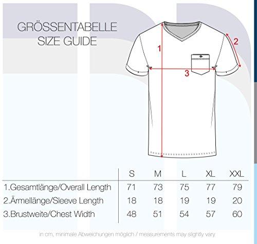 Corta Algodón Básica solid Manga Para Fox Tinny T 100 6792 neck Camiseta shirt Hombre De V Brown Con wxX6fqgpx