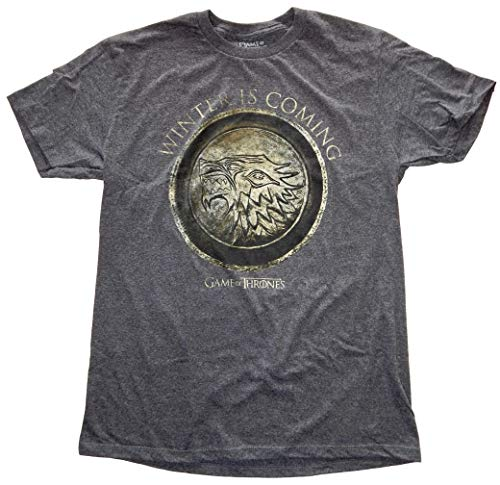 Game of Thrones Winter is Coming Mens T-Shirt (X-Large, Black Heather)