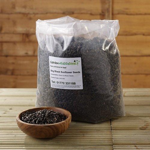25Kg Black Sunflower Seed (2x 12.55kg) - Garden Wildlife Wild Bird Food Garden Wildlife Direct