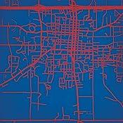 Rti Campus Map.Amazon Com Louisiana Tech University Campus Map Art Unframed 12 X