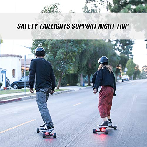 SKATEBOLT Electric Skateboard,Max Range 18.6 Miles,Top Speed 25 MPH,Dual Motor 500 W,8 Layers Maple with Remote Controller,Tornado 2nd Generation