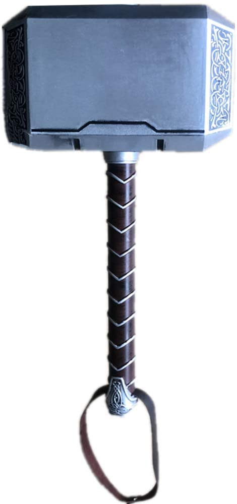 damdos Cosplay Prop for Thor's Model Hammer Stormbreaker 1:1 Size Thor Thunder Hammer PU Foam with Belt Halloween Cosplay Prop Birthday Gifts