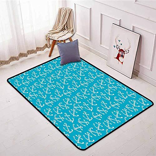 Large Door mat,Anchor,for Outdoor and Indoor,3'11
