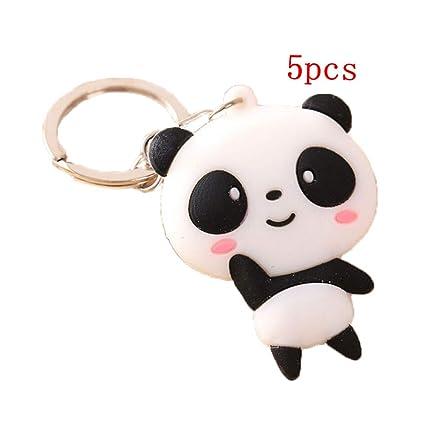 JUNGEN Llavero de Animal Creativo Llavero de Panda Lindo ...