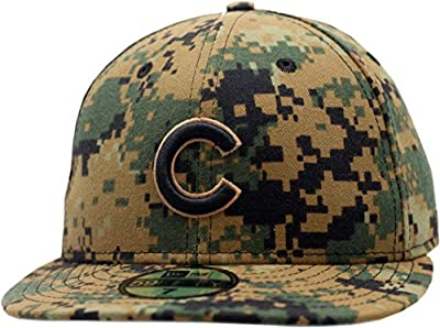 Chicago Cubs 2016 Memorial Day Fitted Hat Digital Camo 11731