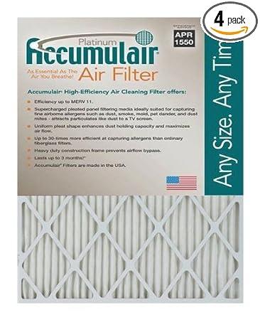13x21-1/2x2 (Actual Size) Accumulair Platinum Filter MERV 11 4 ...