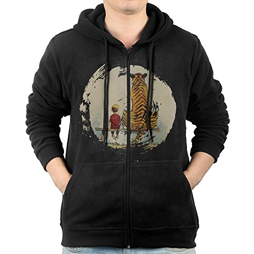 SFG Men's Calvin And Hobbes Thomas Tiger Bench Camping Classic Hoodie Hoodies Casual Style XL (Calvin Hobbes Halloween Costume)