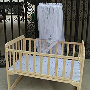 AMAZZANG -White Mosquito Net Netting Canopy for Toddler Nursery Crib Bed Cot Canopy
