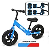 Kids Sport Balance Bike,Classic Push Walking Bicycle Toy with Hand,Elbow and Knee Pads,Lightweight Balance Bike-No Pedal Sport Training Bicycle for Boys Girls Kids