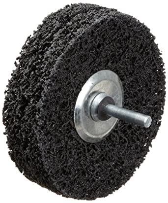 "Norton Rapid Strip Non-Woven Drill Mount Wheel, 4"" Diameter x 1"" Width, Grit Coarse (Pack of 1)"