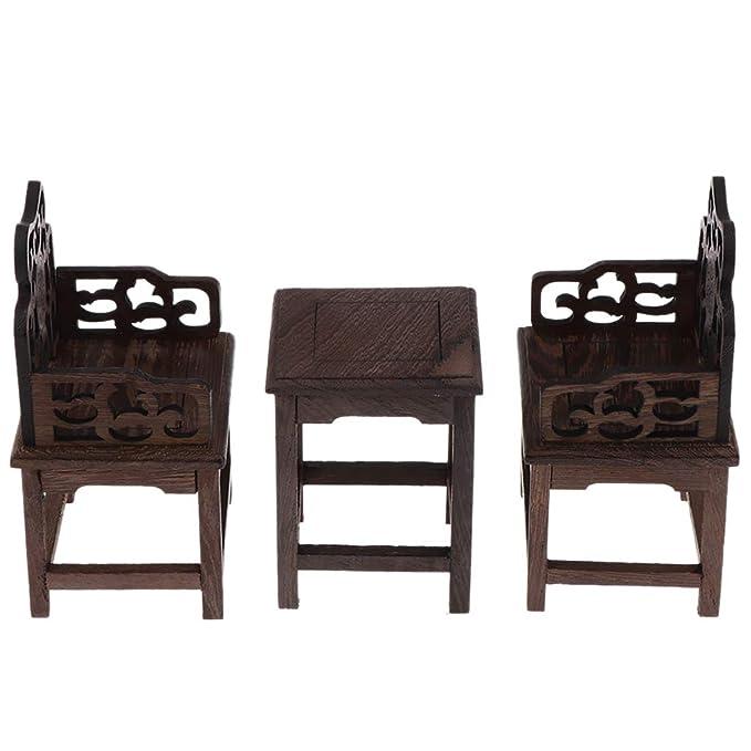 Amazon.es: KESOTO 3X Mini Mesa y Sillones Antiguos de Casa ...