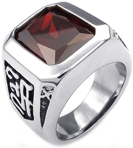 Amazon.com: ANAZOZ Silver Black Retro Punk Style Stainless ...