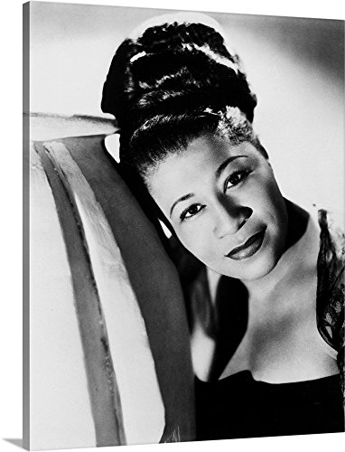 African Stripes Vase (Canvas on Demand Premium Thick-Wrap Canvas Wall Art Print entitled Ella Fitzgerald (1917-1996) 11