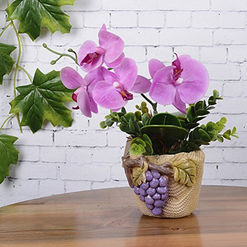 Artificial & Dried Flowers - Diy Artificial Green Rose Leaves Butterfly Orchid Silk Leaf Beauty Plant Wholesale - Dried Artificial Flowers Artificial Dried Flowers Orchid Leaf Foam Butterfly -