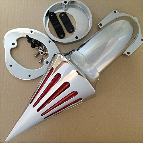 Air Cleaner Kits intake filter Yamaha Vstar V-Star 650 all year 1986-2012 CHROME (Best Air Intake For V Star 650)