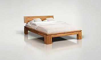 Lit Bois Bett Zeitgenössische Eiche massiv Vinci hoch 180 x ...