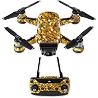 Skin for DJI Spark Mini Drone Combo - Gold Chips| MightySkins Protective, Durable, and Unique Vinyl Decal wrap cover | Easy To Apply, Remove, and Change Styles | Made in the USA
