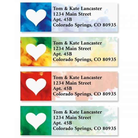 Colorful Love Small Return Address Labels (4 Designs) - Set of 240 2
