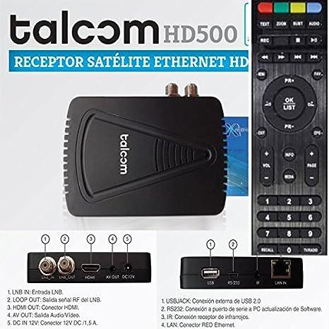 Talcom HD500 - Receptor Satélite Ethernet WIFI Integrado: Amazon.es: Electrónica
