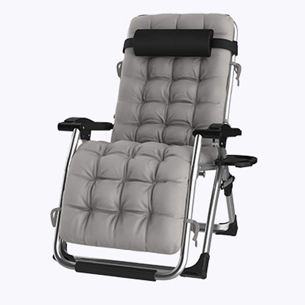 Relaxer Recliner Chairs Zero Gravity Chairs Deck Sunbed Folding Super Width  Reclining Beach Garden Chair Teslin Fabric with Padded Cotton Pad for