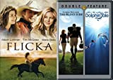 Tales of Horses & Dolphins Flicka & Dolphin Tale + True Story Football Movie DVD Set The Blind Side Triple Feature inspirational Film bundle