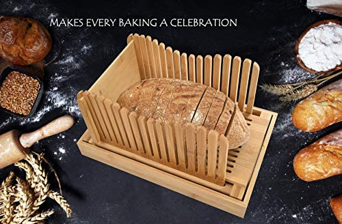 Amazon.com: BambooSong - Cortador de pan de bambú con ...